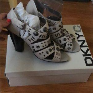 DKNY chunky heel sandals